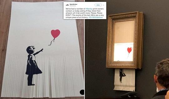 Banksy e l'arte dell'autodistruzione
