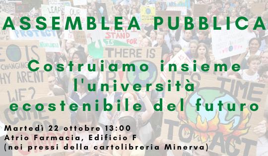 Un'università ecosostenibile per il futuro!: all'unisa l'assemblea pubblica sull'ambiente